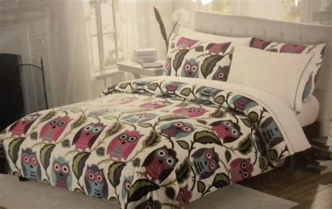 owl twin bed set cynthia rowley twin xl 5 pc comforter set sheets owls dorm