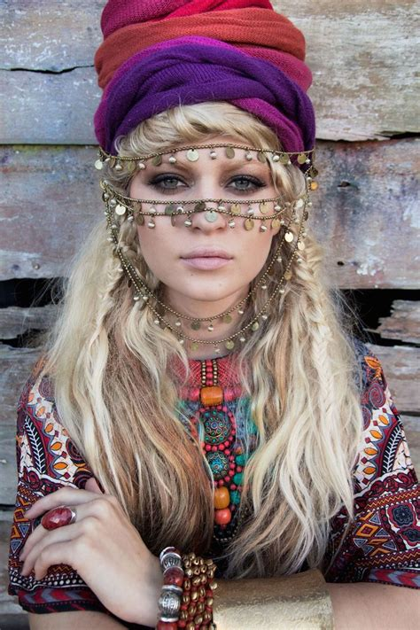 gypsy style hairstyles gypsy bohemian blonde wavy messy hair beautiful
