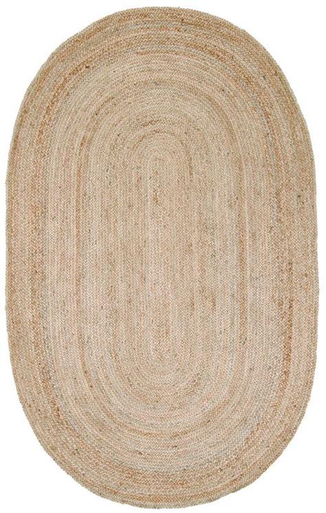 are jute rugs durable casuals fibers oval jute braided area rug carpet durable ebay