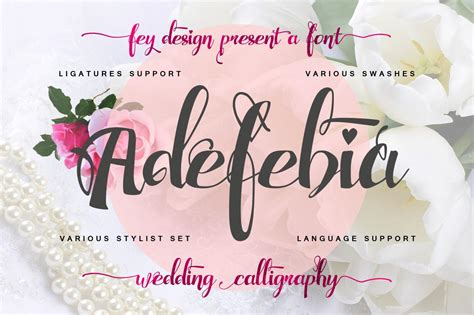 Free Wedding Handwriting Font by Adefebia Wedding Handwriting Font Free