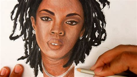 lauryn hill drawing how to draw lauryn hill color pencils tutorial no time