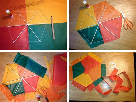 How To Make Simple Kite From Paper - materials needed in a kite
