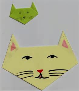 Origami Chat - origami t 234 te de chat locazil