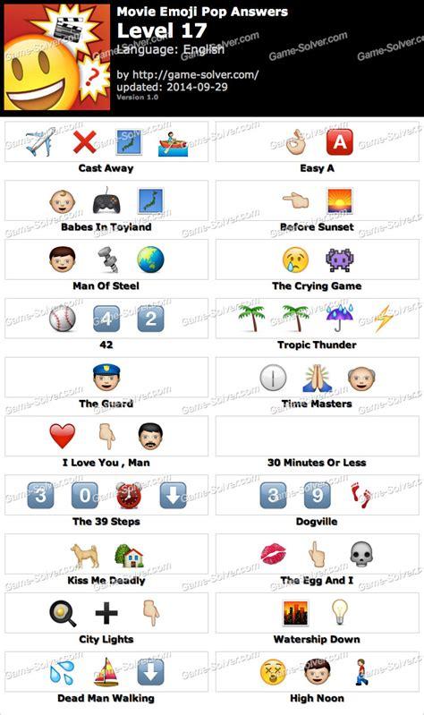 emoji film quizzes emoji quiz answers level 17