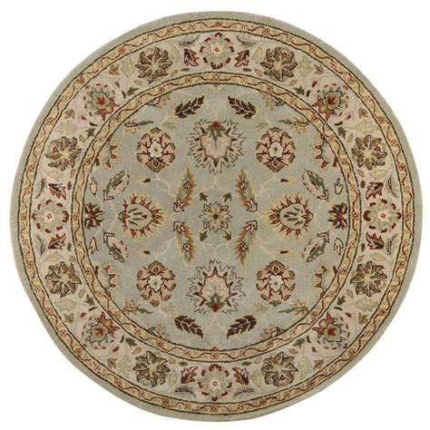 6ft Circular Rugs by Home Decorators Collection Green Ivory 6 Ft X