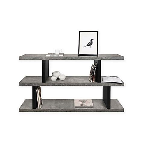 low shelving unit buy tema step low shelving unit in black from bed bath beyond