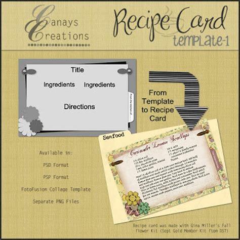 Fotofusion Card Templates Free canay s corner recipe card template 1