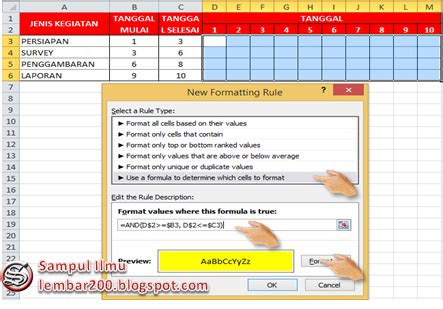 cara membuat tabel jadwal kegiatan cara membuat jadwal pekerjaan otomatis di excel sul ilmu