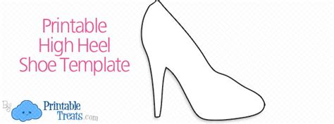 high heel template for cards shoes printable treats