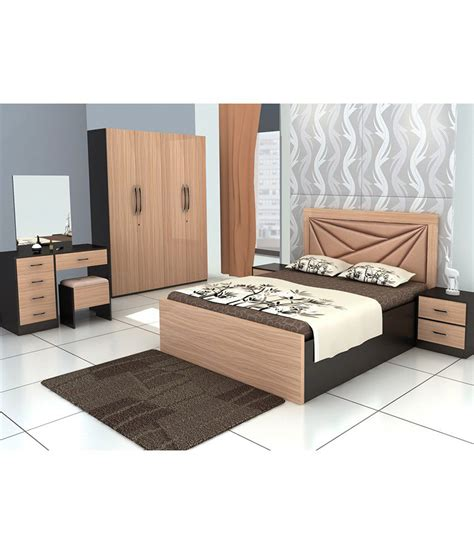 king size bedroom sets bedroom set with king size in brown buy online at best