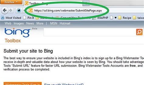 list url bug videomax how to add url to bing search engine