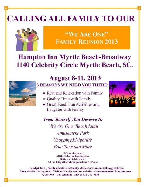 family flyer template we are one family reunion