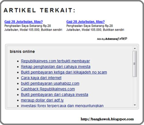 cara membuat artikel cara membuat artikel terkait related post