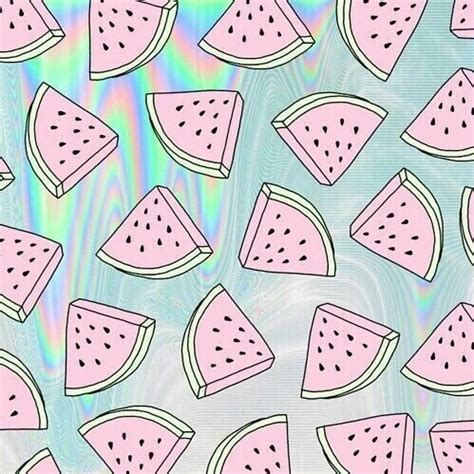 holographic pattern tumblr watermelon background tumblr