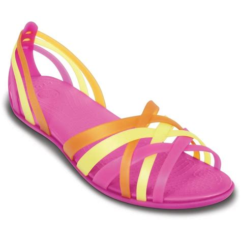 are crocs really comfortable crocs womens huarache flat fuchsia grapefruit comfortable