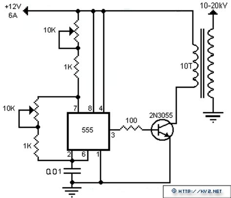2n3055 transistor flyback driver stable flyback transfomer drive circuit