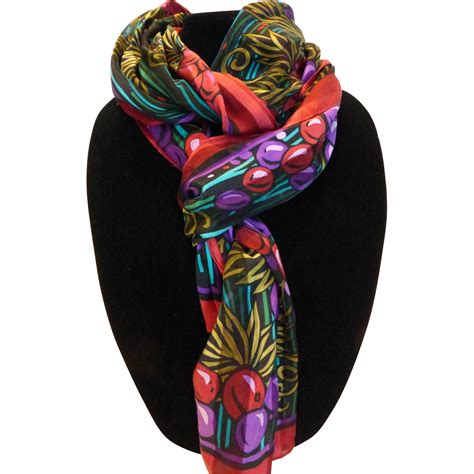vintage bob mackie silk scarf from historique on ruby