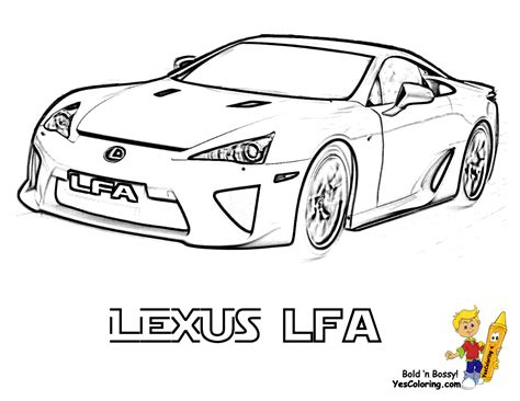 lexus lfa drawing free coloring pages of lfa