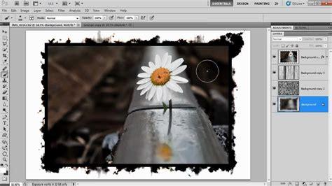 tutorial photoshop frame super quick grunge border in photoshop youtube
