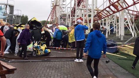 theme park crash rollercoaster derails at scottish theme park leaves 10
