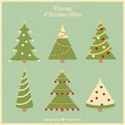 pack de 225 rboles de navidad vintage descargar vectores gratis