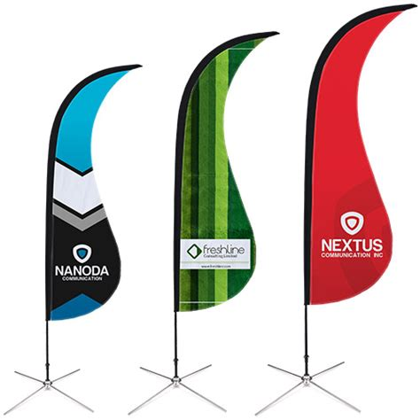sharkfin banner template all printed products at helloprint