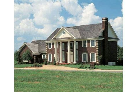 brick colonial house plans traditional red brick colonial style mansion houses from