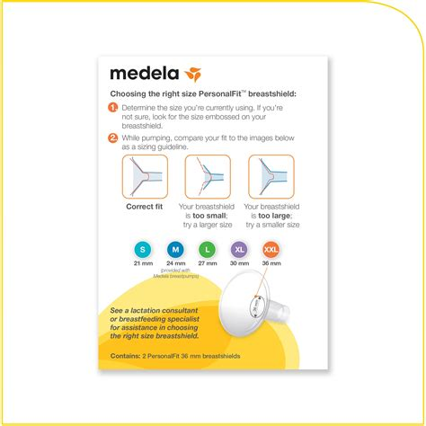 what size breast shield comes with medela swing com medela personalfit breastshield xx large
