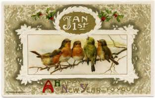 the empty nest happy vintage new year from the empty nest