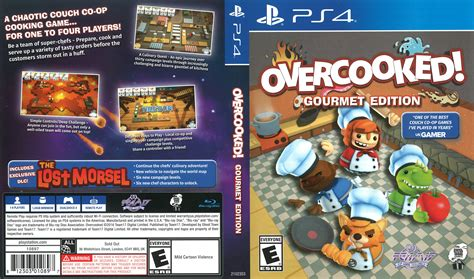 Ps4 Overcooked Gourmet Edition overcooked gourmet edition 2016 ps4 cover dvdcover