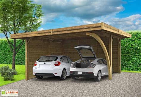 Carport Für 2 Autos 63 by Carport En Bois Mon Am 233 Nagement Jardin