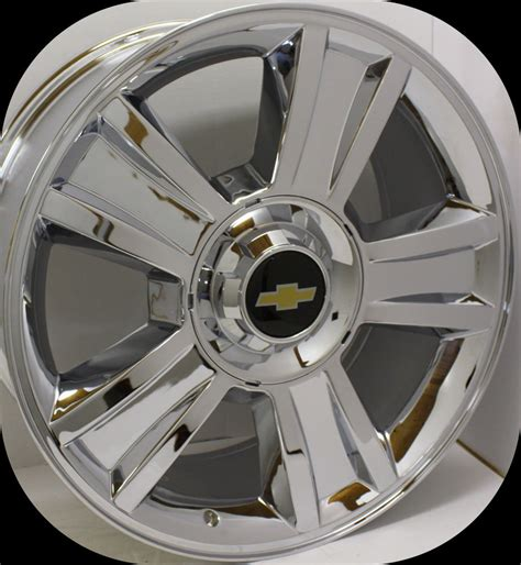 Chrome Chevy Truck Wheels 2007 2017 Chevy Ltz Silverado 1500 Tahoe Suburban