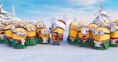 christmas minions ms gif find  gifer