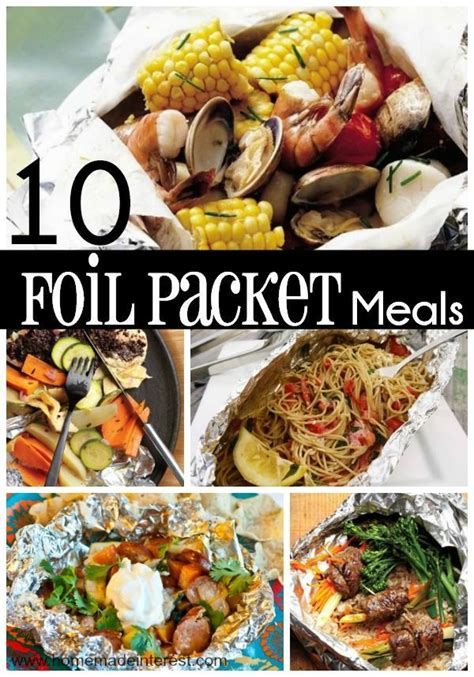 10 easy foil packet meals for the family
