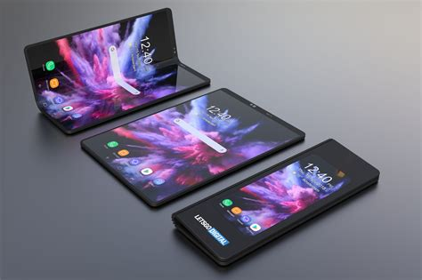 samsung foldable smartphone  renders letsgodigital