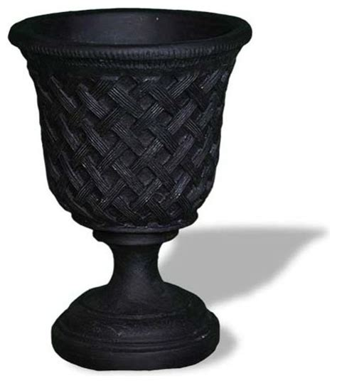 Planters Without Drainage Holes by Lattice Urn Without Top Black Without Drainage
