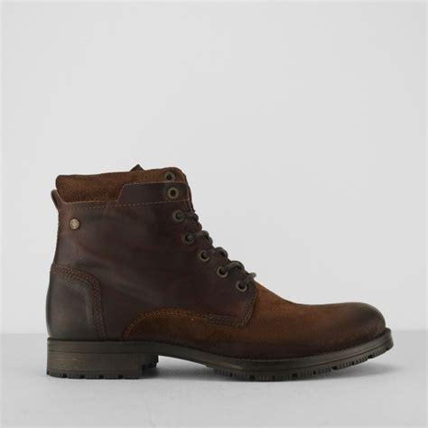 jones mens boots jones jfwdennis mens leather zip up boots brown