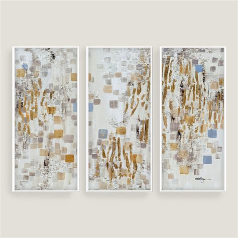blue  gold wall art world market