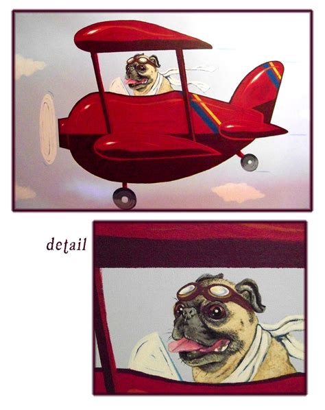 pugs on planes pug flying acrylic painting by artisticschmidt on deviantart