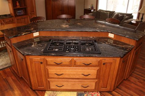 kitchen with stove in island custom cabinets mn custom kitchen island