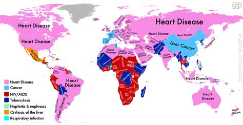 third world and developing countries news times topics new global illness map charts countries most fatal diseases