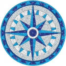 mosaic tile designs entrancing drop in pool mosaics with compass mosaic
