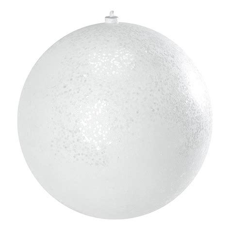 300mm glitter baubles white dzd