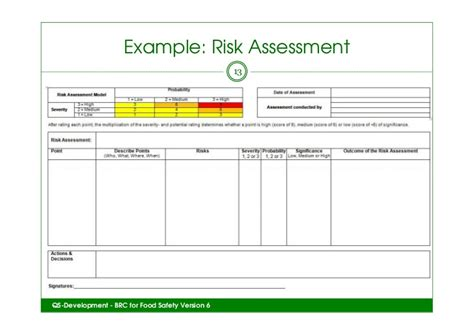 Teagacs Brc Issue 6 Event How To Get Started Material Risk Assessment Template