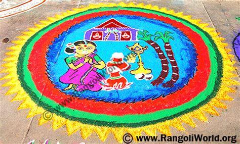 rangoli themes for pongal freehand rangoli