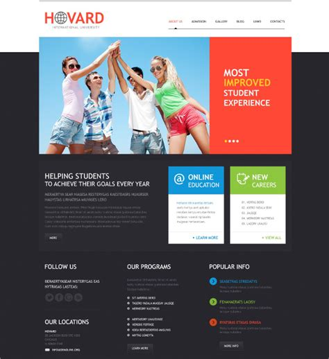 wordpress themes free university 24 university wordpress themes templates free