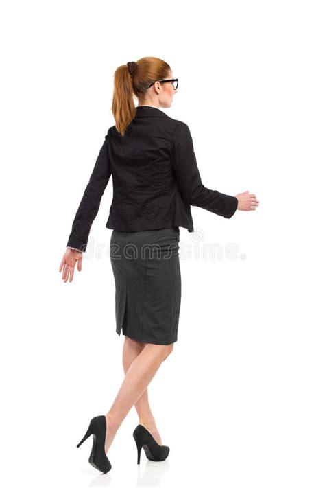 walking rear angle view stock photo image 39527434