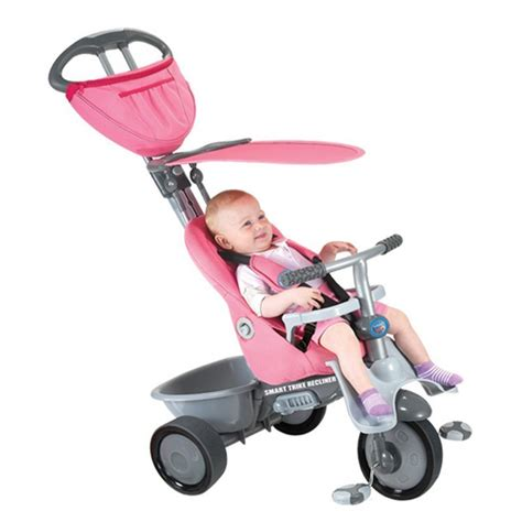 reclining smart trike new pink smart trike recliner stroller 4 in 1 smartrike