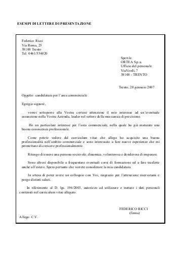 esempi lettere di presentazione lettera di presentazione dello studio rspp aniag