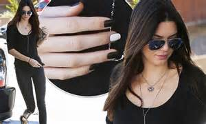 Delta Ftale Footwear kendall jenner matches monochrome manicure with